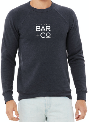 Deal Lake Bar + Co. Heather Navy Crew Sweatshirt