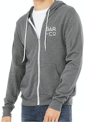 Deal Lake Bar + Co. Heather Gray Zip-Up Hoodie