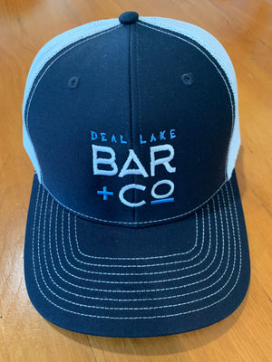 Deal Lake Bar + Co. Navy & White Trucker Hat