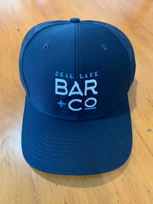 Deal Lake Bar + Co. Navy & Navy Trucker Hat