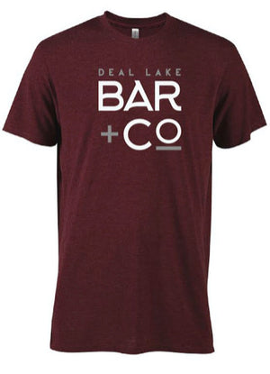 Deal Lake Bar + Co. Heather Maroon Tee