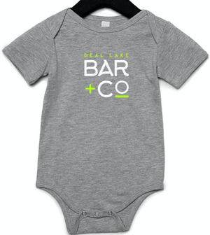 Deal Lake Bar + Co. Gray Baby Onesie