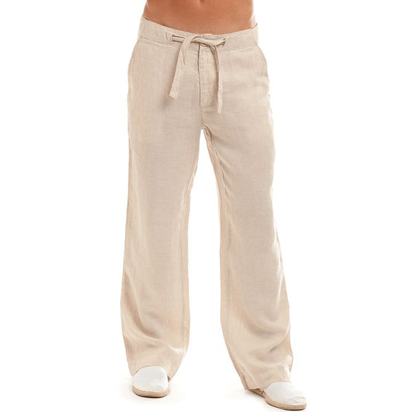 Comfy Loose Drawstring Linen Casual Pants