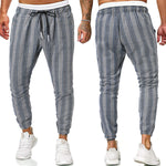 Load image into Gallery viewer, Men's plus size plaid printed twill casual pants