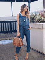 Load image into Gallery viewer, Denim Casual Jumpsuits