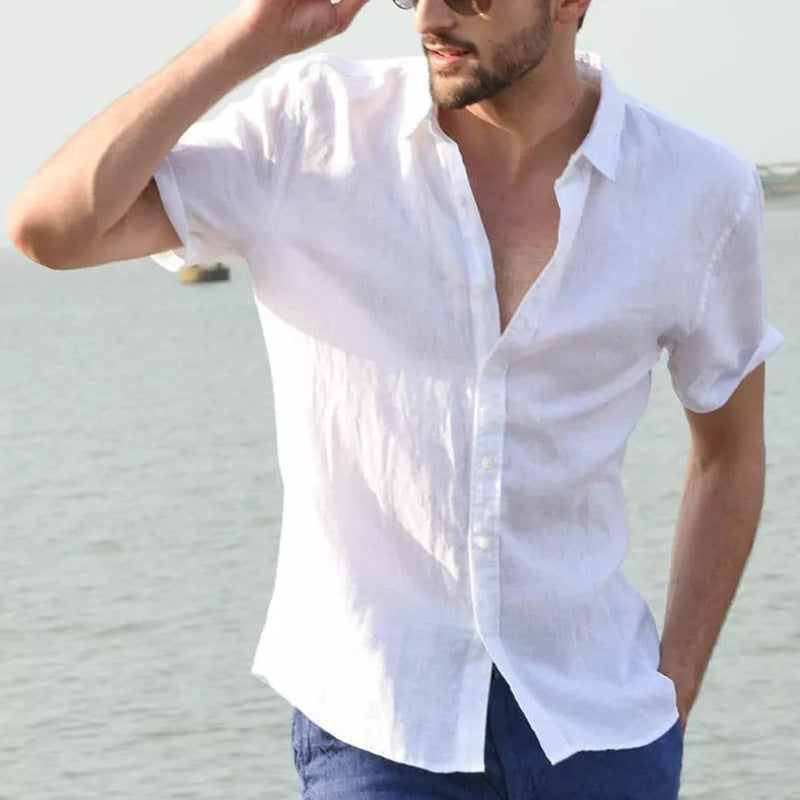 Men's Vacation Linen Casual Shirt