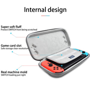 switch hard shell, Nintendo Switch bag case- Each part of our Nintendo switch case is made of the highest quality material. (Black & Gray), High Quality that won't snap off after continued using. In order to Protect your precious switch free from scratche