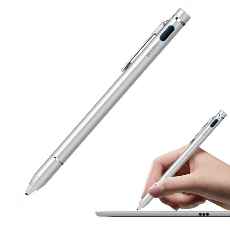 P666, WiWU Active Stylus Pen, rechargeable touch pen with adjustable pen tip for universal touch screen ipad iphone and android touch screen