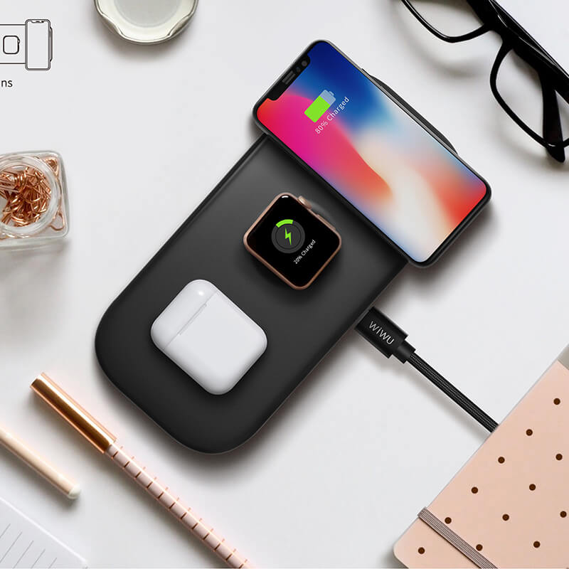 3 In 1 Wireless Charger, M2 wireless charger, wholesale