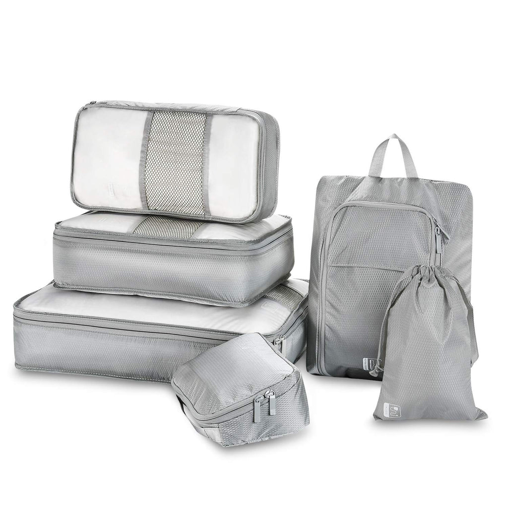 Packing Cubes 8 Sets,Travel Luggage Organizers Packing Cubes,Include Waterproof Shoe Storage Bag Convenient Packing Pouches for Traveller