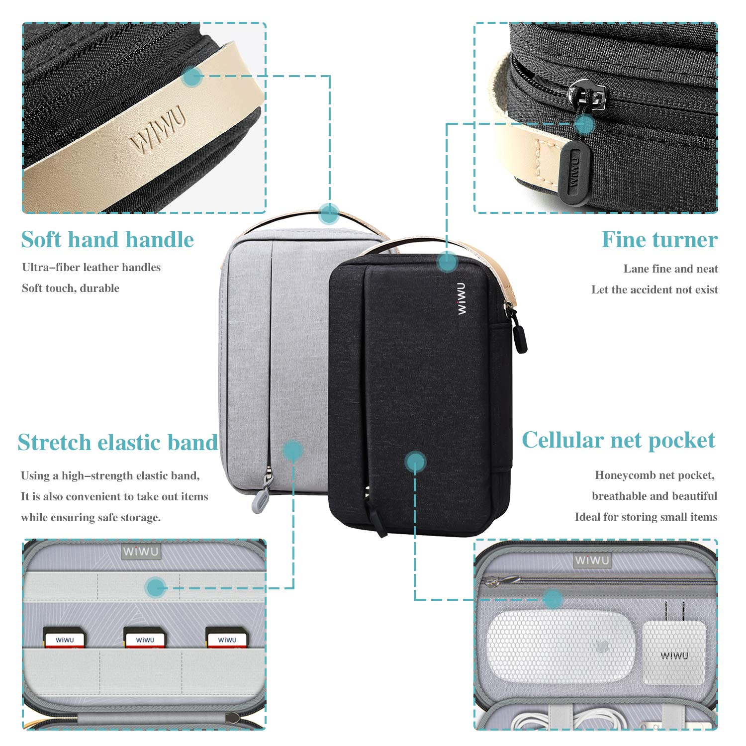 Mega organizer, WiWU Cable Organizer, Electronic Accessories Organiser