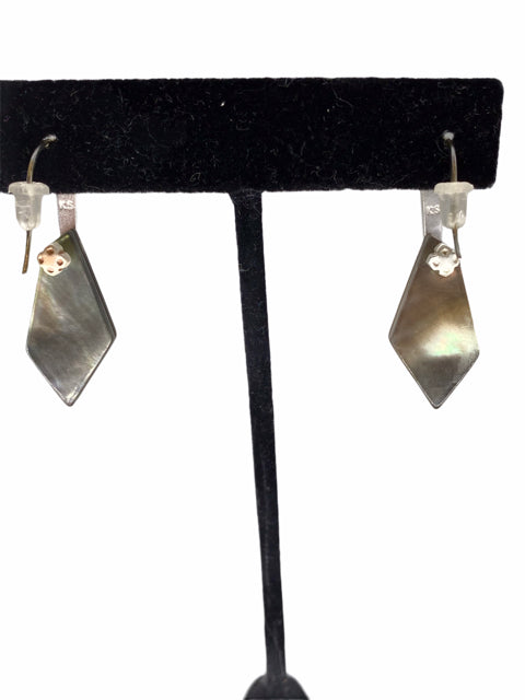 KENDRA SCOTT Costume Silver/Green EARRINGS