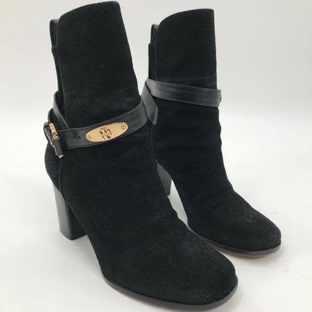 TORY BURCH Size 7 Ankle Black Suede BOOT