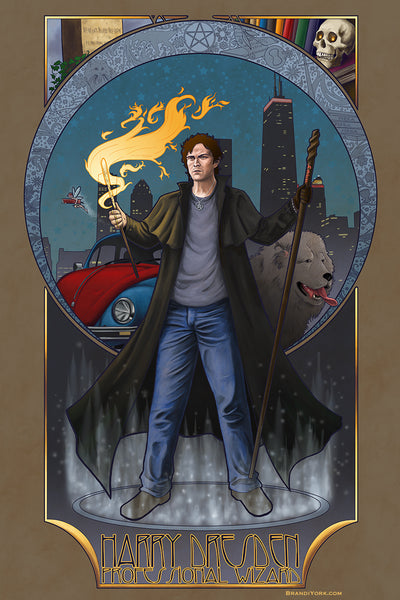 Dresden Files - Conjure By It At Your Own Risk - Matted Mini Print
