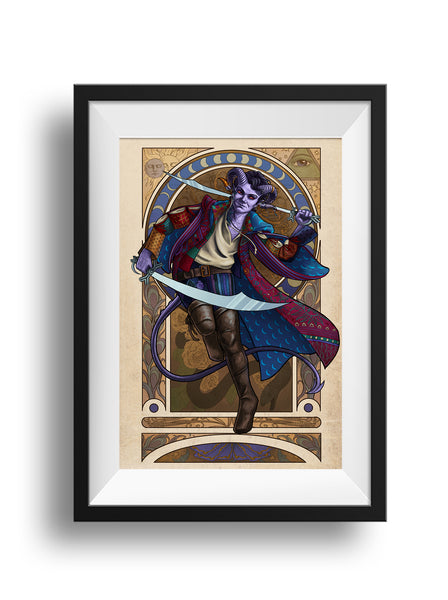 Critical Role - The Magnificent Bastard - Mollymauk Tealeaf Print