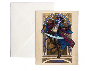 Critical Role - Mighty Nein - The Magnificent Bastard - Mollymauk Tealeaf Greeting Card