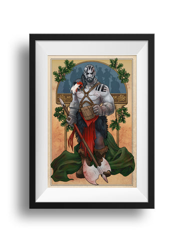 Critical Role - My Strength is in My Friends - Grog Strongjaw Print
