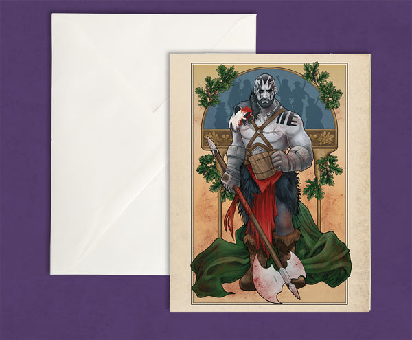 Critical Role - Vox Machina - My Strength is in My Friends - Grog Strongjaw Greeting Card