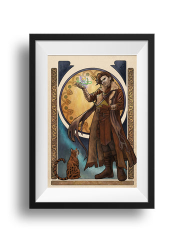 Critical Role - Of Cosmos and Consequences - Caleb Widowgast Print