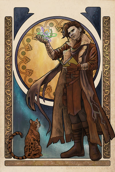 Critical Role - Of Cosmos and Consequences - Caleb Widowgast Matted Mini Print