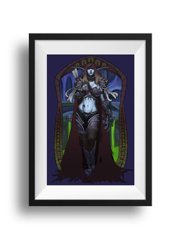 Dark Lady Watch Over Us - Print