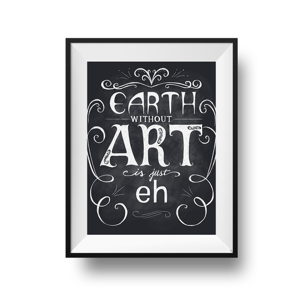 Earth Without Art - Print