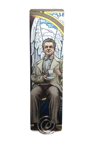To The World - Good Omens Aziraphale Metal Bookmark