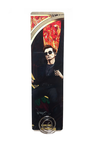 To The World - Good Omens Crowley Metal Bookmark