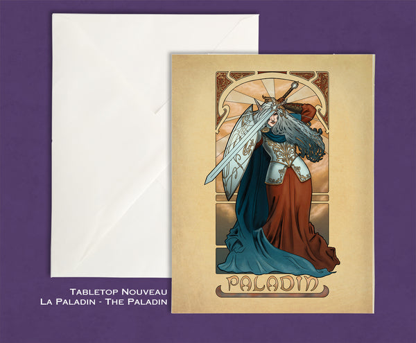 Tabletop Nouveau - La Paladin - The Paladin Greeting Card