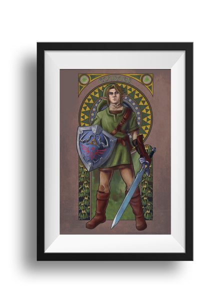 Legend of Zelda - Courage - Link Print
