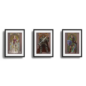 Legend of Zelda - The Complete Triforce - Set of 3 Prints