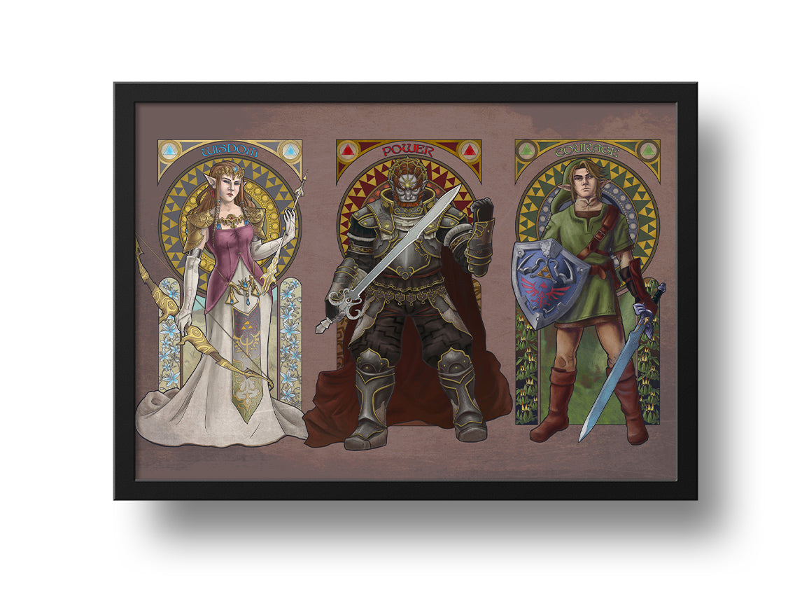 Legend of Zelda - The Triforce 20x30 Print