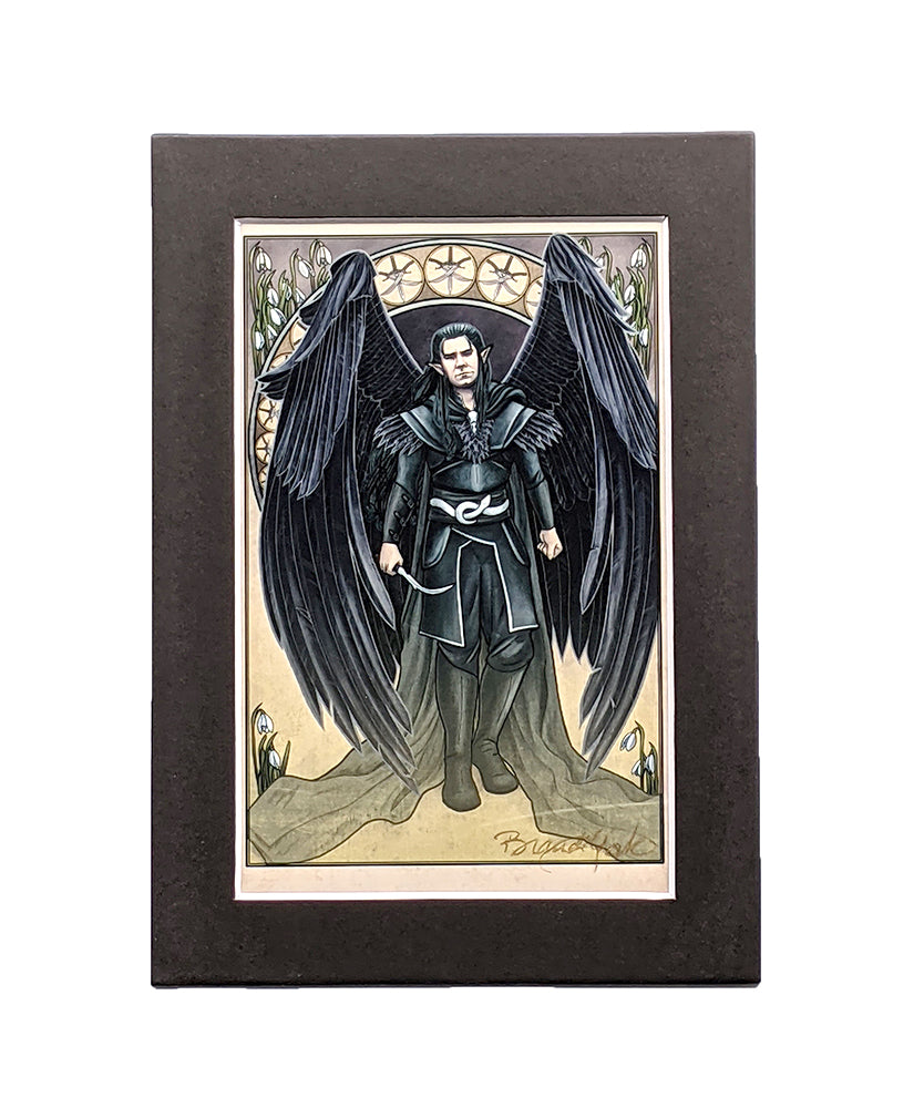 Critical Role - And I Walk Away - Vax'ildan Matted Mini Print