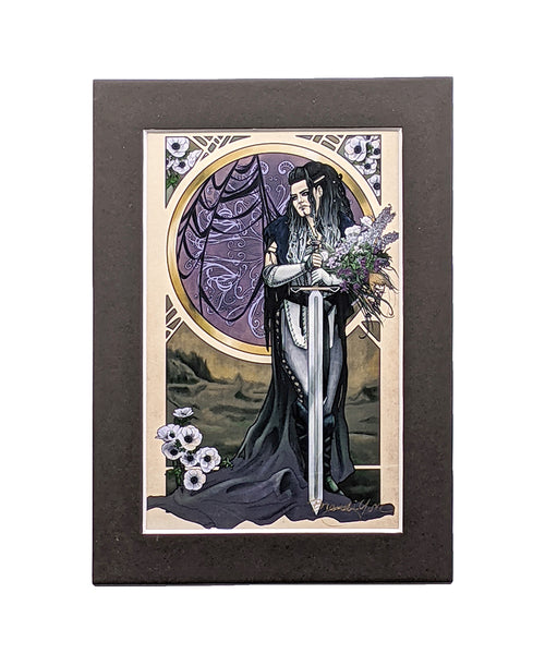 Critical Role - Forsaken - Yasha Matted Mini Print
