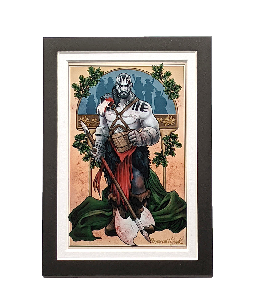 Critical Role - My Strenght is in My Friends - Grog Strongjaw Matted Mini Print
