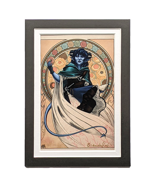 Critical Role - Sunshine, Lollipops, and Rainbows - Jester Lavorre Matted Mini Print