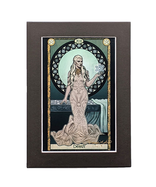 Dresden Files - Death featuring Queen Mab Matted Mini Print