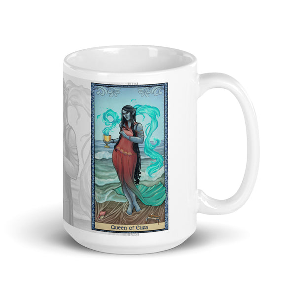 Tabletop Tarot - Queen of Cups White Mug