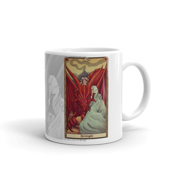 Tabletop Tarot - Strength White Mug