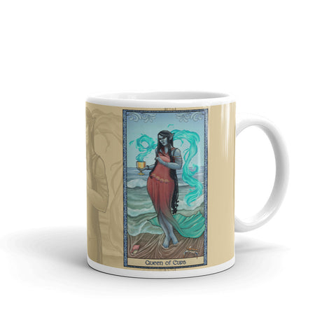 Tabletop Tarot - Queen of Cups Cream Mug