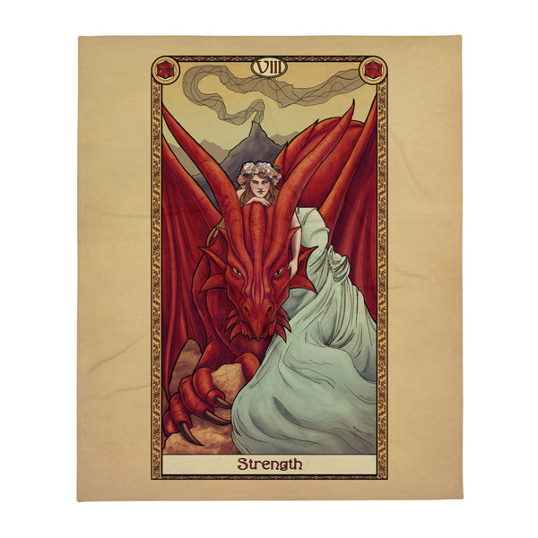 Tabletop Tarot - Strength Throw Blanket
