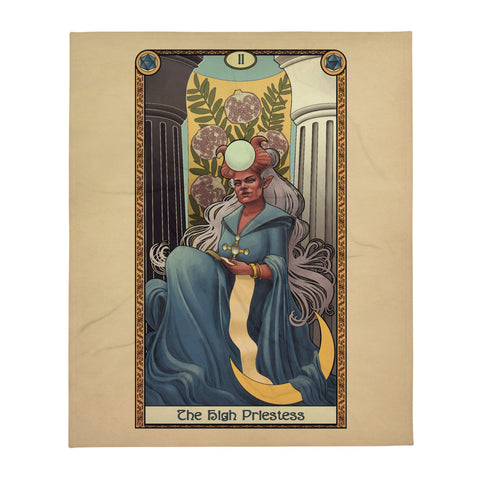Tabletop Tarot - The High Priestess Throw Blanket