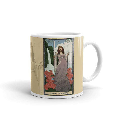 Tabletop Tarot - Queen of Swords Cream Mug