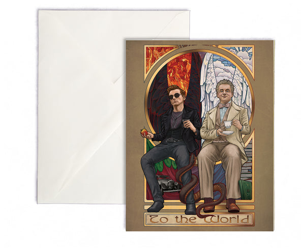 To The World - Good Omens Greeting Card