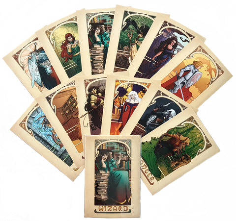 12 Piece Tabletop Nouveau Mini Print Set