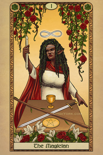Tabletop Tarot - The Magician - Print