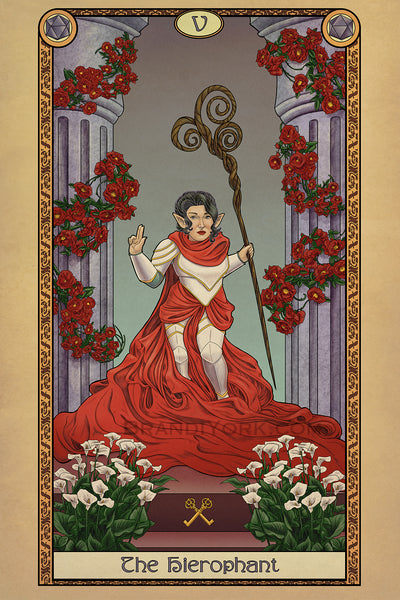 Tabletop Tarot - The Hierophant- Print