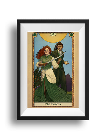 Tabletop Tarot - The Lovers - Print