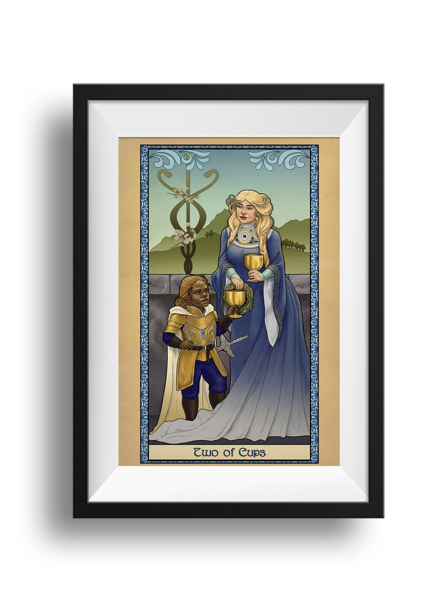 Tabletop Tarot - Two of Cups - Print