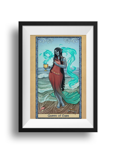 Tabletop Tarot - Queen of Cups - Print